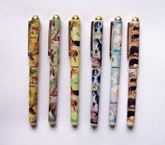 Dog breed writing pens with exclusive designs by Ruth Maystead, canine artist. Over 60 breeds represented! All prices include VAT & UK postage.