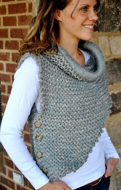 Hottest Pic Crochet cowl shrug Tips Best crochet shrug chunky scarf patterns ideas Diy Tricot Crochet, Chunky Crochet, Crochet Cardigan, Knitted Shawls, Crochet Shawl, Crochet Yarn, Crochet Ideas, Shawl Patterns, Knitting Patterns