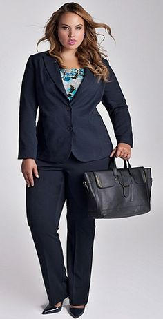 fc76afc0e15 Find useful styling advice for choosing plus size business clothes. Explore  colors