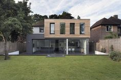 Timber and glass extension.