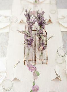 lavender in mason jars centerpieces