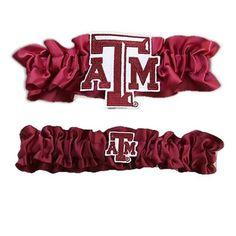 Texas A&M Aggies Garter Set One to Keep One to Throw (Maroon/Maroon) #TexasAMAggies