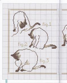 ru / irisha-ira - Album, a lot of different Cats Modern Cross Stitch, Cross Stitch Charts, Cross Stitch Patterns, Cross Stitch Animals, Cat Crafts, Cat Pattern, Cross Stitching, Needlepoint, Needlework