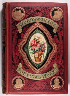 Wordsworth's Poetical Works - publishers decorated gilt cloth over beveled boards with deep recessed panel on the upper cover c1870