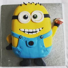 WEEK 1: My entry into the #GFMBO that @deliciousalchemy are running. He is glutenfree and dairyfree #GBBO #cake #freefrom #baking #minion - by @freefromfairy