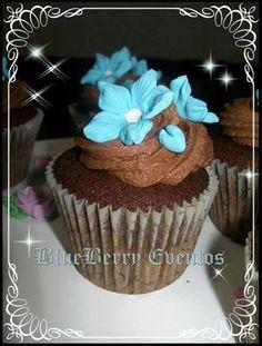cupcakes Blueberry Eventos