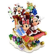 Santa Mickey Mouse and Friends Holiday Sleigh Figurine