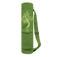 Keep your mat clean, dry, and portable with the Gaiam Tree of Wisdom Cargo Mat Bag. $20