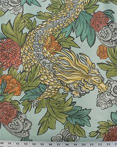 Ming Dragon Aquatint | Online Discount Drapery Fabrics and Upholstery Fabric Superstore!