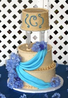 Blue swag Pastry Shop, Specialty Cakes, Celebration Cakes, Wedding Cakes, Swag, Birthday Cake, Desserts, Blue, Food