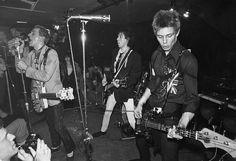 Joe Strummer, Mick Jones and Paul Simonon of The Clash, 1977