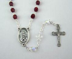 Saint Philomena Chaplet by FaithHopeAndBeads on Etsy