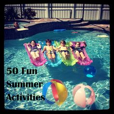 50 Fun Things to do with your Kids this Summer. Check out these fun summer activities!