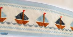 Sabanitas bordadas punto cruz - Sábanas - Casa - 498442 Simple Cross Stitch, Cross Stitch Baby, Cross Stitch Embroidery, Cross Stitch Designs, Cross Stitch Patterns, Stitch 2, Needle And Thread, Needlepoint, Baby Boy