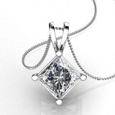 This exquisite simulateddiamond pendant is crafted out of solid white gold and a brilliant man-made diamond. This design of pendant is one of the most desired and classy of all. The diamond is set in a unique, secure, designer style setting. Diamond Solitaire Necklace, Diamond Pendant Necklace, Diamond Jewelry, Diamond Necklaces, Necklace Chain, Solitaire Rings, Diamond Choker, Cameo Necklace, Choker Necklaces