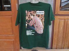 Oasis-T-Shirt-Vintage-90s-Alternative-Rock-britpop-band-tour-Suede-Blur-Size-L