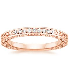 14K Rose Gold Delicate Antique Scroll Ring from Brilliant Earth