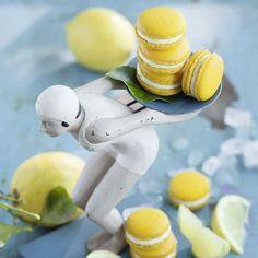 Eine Zitronen-Buttercreme-Füllung sorgt hier für die zitrusfrische Leichtigkeit und den fruchtigen Duft der Macarons.