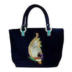 Beautiful Velvet Standing Peacock Party Womens Hand Made Bag Summer Sale Gift !! #Arishakreationco #HandBag