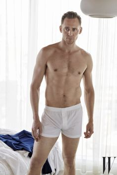 Brooding stare? Check. Perfectly snug boxers? Check.   Tom Hiddleston Has Some New Half Naked Photos And They Are Very Nice