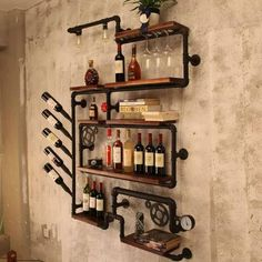 24 Industrial Wall Wine Rack Designs You Can Make Yourself
