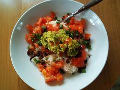 Hobbylka: Rýže s avokádem a rajčaty