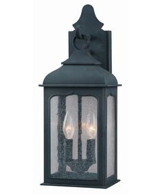 Shown in Colonial Iron finish and Clear Seeded glass