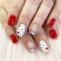Lovely Valentine's Day Nail Ideas * 2020 - Elegant Life French Nail Designs, Best Nail Art Designs, Beautiful Nail Designs, Long Gel Nails, Heart Nails, Top Nail, Stylish Nails, Toe Nail Art, French Nails