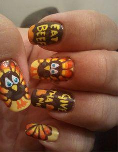14 Best Nail Art Thanksgiving Images On Pinterest Uas Bonitas