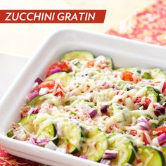 Ease back into regular week nights with this delicious Zucchini Gratin recipe!