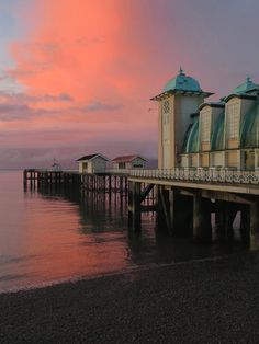 Sunrise over Penarth Pier Visit Cardiff, Small Drawings, Cymru, Day For Night, South Wales, Marina Bay Sands, Places Ive Been, Piano, Sunrise