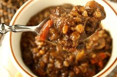 """Sunday Soup """"Melt in Your Mouth"""" Beef and Barley Soup"""