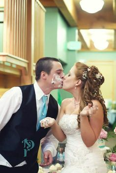 Kiss after cake
