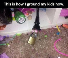 This is how I ground my kids...