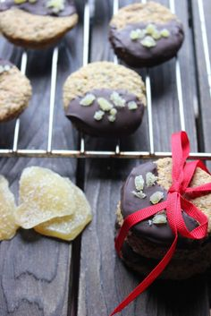 Chocolate & Ginger Chia Seed Holiday Cookies