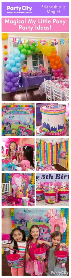 Party pony style! Enter the world of Equestria with our My Little Pony party ideas featuring Rainbow Dash, Twilight Sparkle & friends!