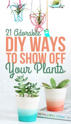 23 Adorable DIY Ways To Show Off Your Plants
