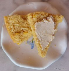 The slight sweetness of cornbread is set off perfectly by (vegan) cream cheese.