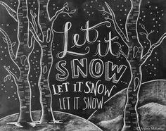 Let It Snow Sign - Woodland Decor - Winter Sign - Chalkboard Sign - Chalk Art- Chalkboard Christmas Decor - Chalkboard Art - Chalk Print Chalkboard Decor, Chalkboard Lettering, Chalkboard Designs, Christmas Chalkboard Art, Halloween Chalkboard Art, Outdoor Chalkboard, Chalkboard Drawings, School Chalkboard, Chalkboard Print