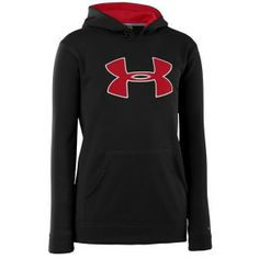 When it's time to play, there's nothing holding you back - not even a little rain. So Under Armour created a specially designed sweatshirt that looks just like your favourite Under Armour Big Logo Hoody, but this one's got a seriously water-resistant technology that keeps rain and snow from seeping in and slowing you down.  http://www.performancesportsstuff.com/pr/892/kids-armourfleece-storm-big-logo-hoody-blackred