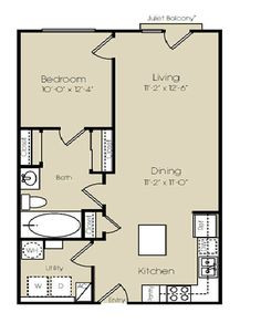 Dallas TX Times Square Apartments Floor Plan put combined laundry bathroom in bottom l corner. Divide space on left hand side to make 2 small bedrooms. The Plan, How To Plan, Small House Floor Plans, Cabin Floor Plans, Small Kitchen Floor Plans, Square Floor Plans, Apartment Floor Plans, Cottage Plan, Cottage House