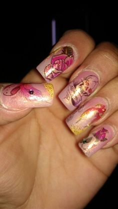 Ed Hardy Tattooed Nails by beckystnt - Nail Art Gallery nailartgallery.nailsmag.com by Nails Magazine www.nailsmag.com #nailart