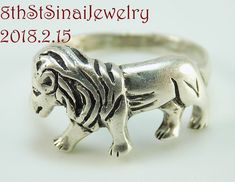 Estate Sterling Silver 925 Walking/Stalking Leo the LION Ring Size 8.5 #Unbranded #Statement .  #LeotheLion #Lion #Roar #Band #Handcrafted #SterlingSilver #Ring #Unique #Beautiful #EstateJewelry #VintageJewelry #8thStSinaiJewelry #FreeShipping  http://stores.ebay.com/8thstsinaijewelry