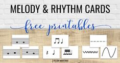 Free printable melody and rhythm cards to use during instrument exploration day. Fantastic ideas for having elementary music students explore new instruments in the music classroom!