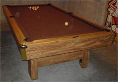 Brunswick Bristol Pool Table. This Table Has Been Available In Many  Finishes, Snooker And Pool Pocket, Metal And Plastic Corners. Thousands Of  Thu2026