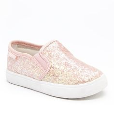 Look what I found on #zulily! Pink Glitter Tween Slip-On Shoe by Carter's #zulilyfinds