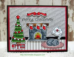 Inspired by All the Little Things: Inspired By All the Little Things Challenge Featuring Colleen Foelker Cat Christmas Cards, Simple Christmas Cards, Christmas Paper Crafts, Homemade Christmas Cards, Xmas Cards, Handmade Christmas, Holiday Cards, Merry Christmas, Gift Cards