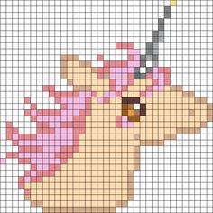 Unicorn perler bead pattern