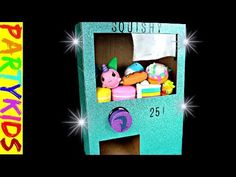 Check out our squishy vending machine (awesome)! The Partykids make a squishy vending machine out of cardboard that requires money! This homemade DIY squishy. Easy Diy Crafts, Fun Crafts, Vending Machine Diy, Homemade Squishies, Diy Doll Miniatures, Paper Machine, Diy Barbie Furniture, Barbie Dolls Diy, Fun Projects For Kids