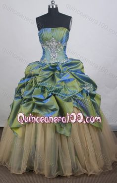 Lovely Appliques and Beading Ball Gown Strapless Quinceanera Dresses
